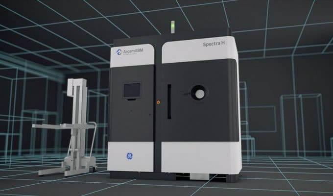 Impressora 3D Arcam que utiliza a tecnologia de Fusão de Feixe de Elétrons